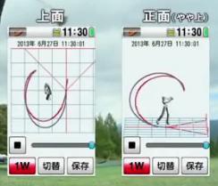 スイングトレーナー スイングの軌跡画像その2