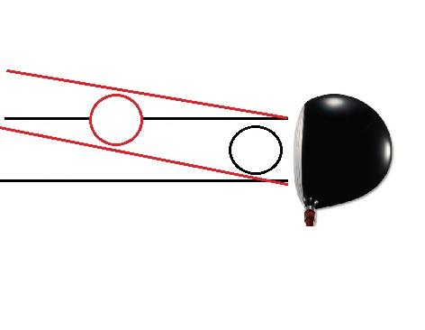 出球のラインを調節して横風に対応する
