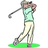男性ゴルファー